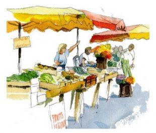 Mise en place d'un petit marché alimentaire